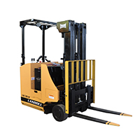 pennwest electric narrow aisle forklift class 2