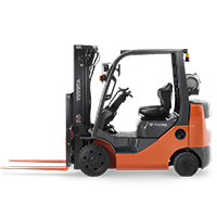 pennwest internal combustion counterbalanced cushion forklift class 4