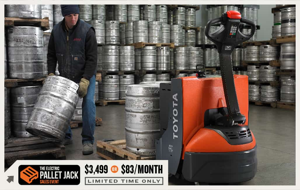 toyota electric pallet jack sales event